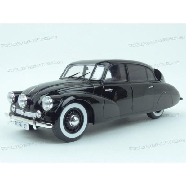 Modely aut - Tatra T87 1937 (Black) v měřítku 1:18