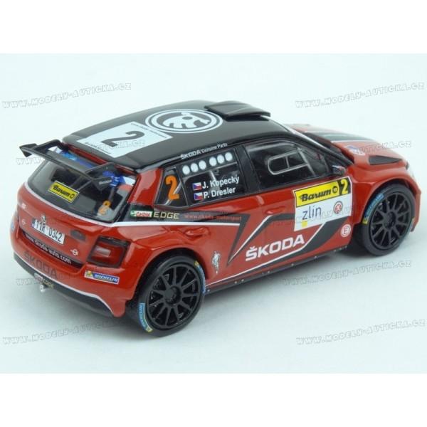 Barum Rally: Škoda Fabia R5 Nr.2 Rally Barum 2016, IXO Models 1:43 Model