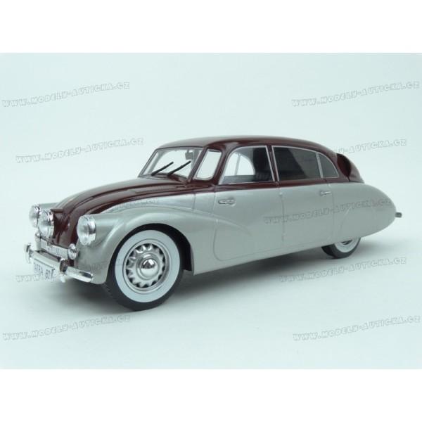 Modely aut - Tatra T87 1937 (Silver/Red)3 v měřítku 1:18
