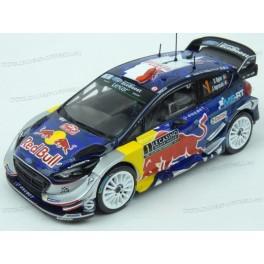 Ford Fiesta WRC Nr.1 Red Bull Winner Rally Monte Carlo 2017 (Championship Rally) model 1:43 IXO Models RAM641