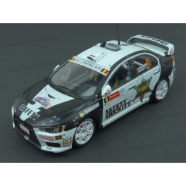 Mitsubishi Lancer Evo X Safety Car Ypres Rally 2011, IXO Models 1/43 scale