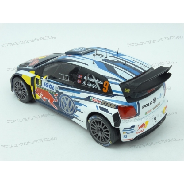 volkswagen polo r wrc nr 9 red bull rally tour de corse 2016 3rd place ixo models 1 18 model. Black Bedroom Furniture Sets. Home Design Ideas