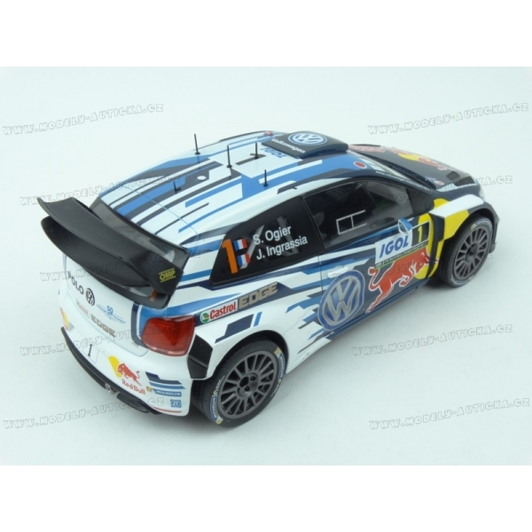 volkswagen polo r wrc nr 1 red bull winner rally tour de corse 2016 ixo models 1 18 model. Black Bedroom Furniture Sets. Home Design Ideas