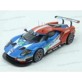 Ford GT Nr.67 2nd LMGTE Pro 24h Le Mans 2017, IXO Models 1/43 scale