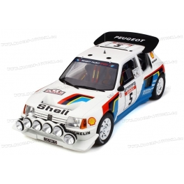 Peugeot 205 T16 EVO2 Nr.5 Winner Rally Tour de Corse 1986, OttO mobile 1/12 scale