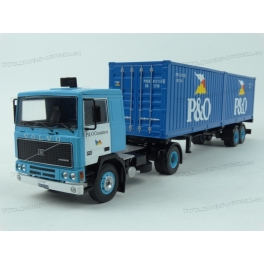 Volvo F10 P&O Containers 1983 model 1:43 IXO Models TTR006