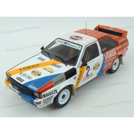 Audi Quattro A2 Nr.2 Winner Hunsrück Rallye 1984 model 1:18 IXO MODELS 18RMC010