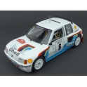Peugeot 205 T16 Nr.6 (3rd Place) Rally Monte Carlo 1985, IXO Models 1/18 scale