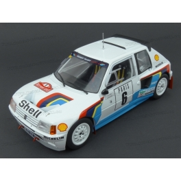 Peugeot 205 T16 Nr.6 (3rd Place) Rally Monte Carlo 1985 model 1:18 IXO MODELS 18RMC021