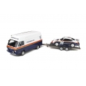 Rallye Set - Volkswagen LT40 with Trailer and Porsche 911 SC RS Nr.4 Winner Rallye 1000 Pistes 1984 model 1:18 OttO mobile OT331