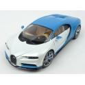 Bugatti Chiron 2016 (White/Blue) model 1:18 WELLY GT Autos WE-11010w-bl