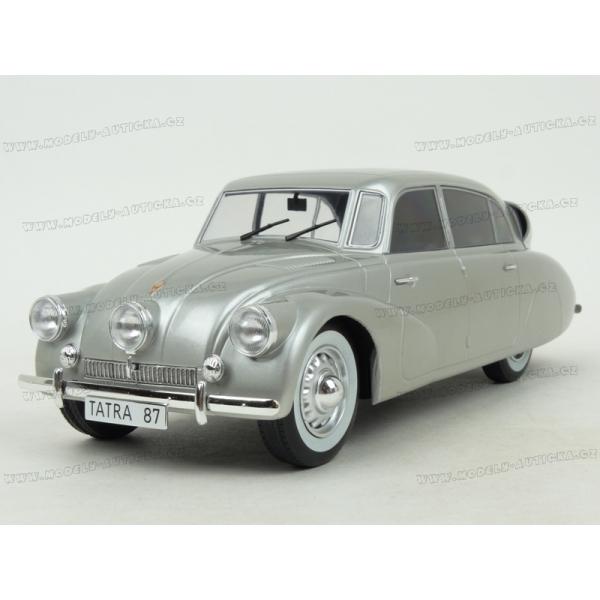 Modely aut - Tatra T87 1937 (Silver) v měřítku 1:18