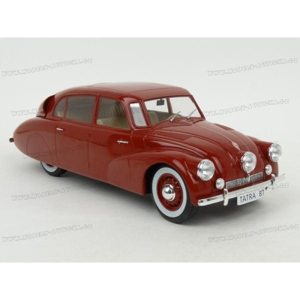 Modely aut - Tatra T87 1937 (Red) v měřítku 1:18