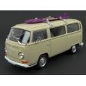 Volkswagen T2 Bus with Surfboard 1972 (Beige) model 1:24 WELLY WE-22472SB-be