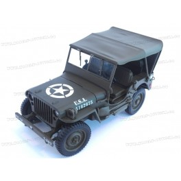 Jeep Willys MB 1-4 Ton US Army Truck 1942 closed roof, WELLY 1:18
