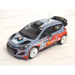 Hyundai i20 WRC Nr.1 Winner Rally Antibes (Côte d'Azur) 2014, IXO Models 1/43 scale