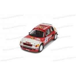 Peugeot 205 T16 Gr.B Nr.3 Rallye Ypres (Uren van Ieper) 1985, OttO mobile 1:18