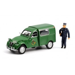 Citroen 2CV AZU Special Post Luxembourg with Figure