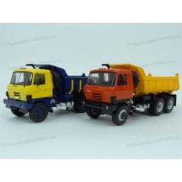 DOUBLE SET: Tatra T815 S1 Sklápěč 1983 (Red/Yellow) + (Yellow/Blue), Premium ClassiXXs 1:43